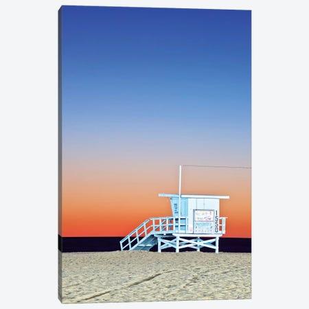 Lifeguard Hut At Twilight, Santa Monica Beach, Santa Monica, California, USA 3-Piece Canvas #RTI6} by Rob Tilley Canvas Art Print