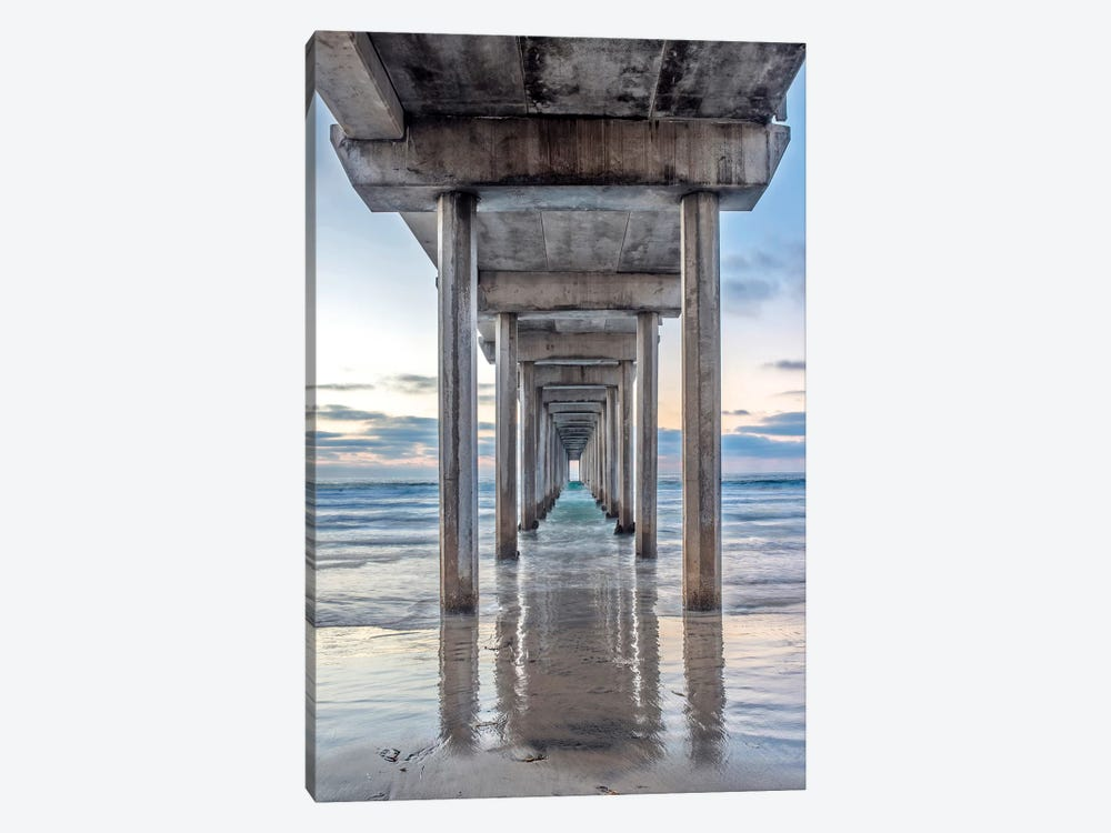 Support Pillars, Ellen Browning Scripps Memorial Pier, La Jolla, San Diego, California, USA by Rob Tilley 1-piece Canvas Print