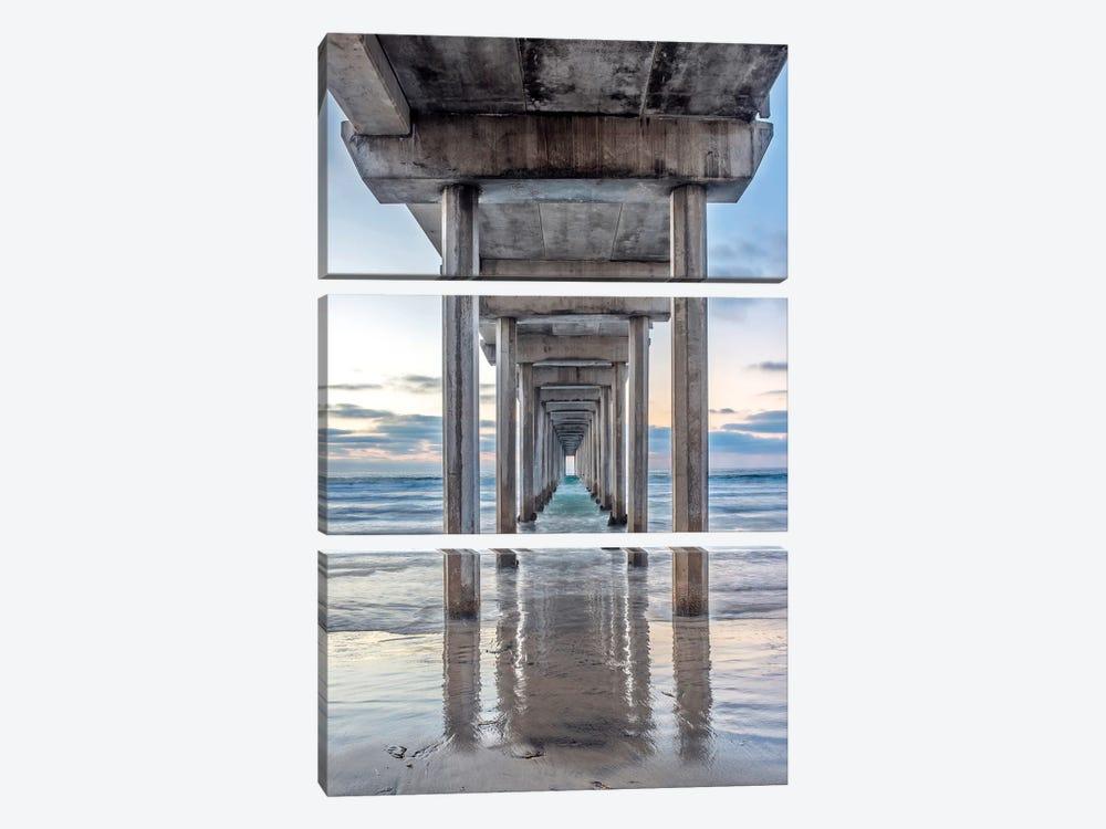 Support Pillars, Ellen Browning Scripps Memorial Pier, La Jolla, San Diego, California, USA by Rob Tilley 3-piece Canvas Print