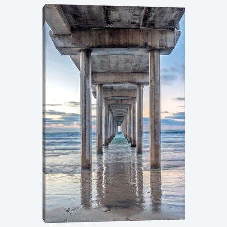 Support Pillars, Ellen Browning Scripps Memorial Pier, La Jolla, San Diego, California, USA Canvas Print #RTI7} by Rob Tilley Canvas Print