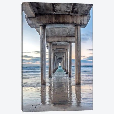Support Pillars, Ellen Browning Scripps Memorial Pier, La Jolla, San Diego, California, USA Canvas Print #RTI7} by Rob Tilley Canvas Print