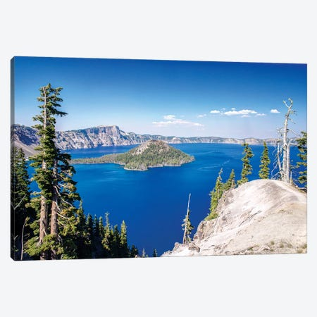 Wizard Island, Mount Mazama And Crater Lake, Crater Lake National Park, Klamath County, Oregon, USA Canvas Print #RTI9} by Rob Tilley Canvas Artwork