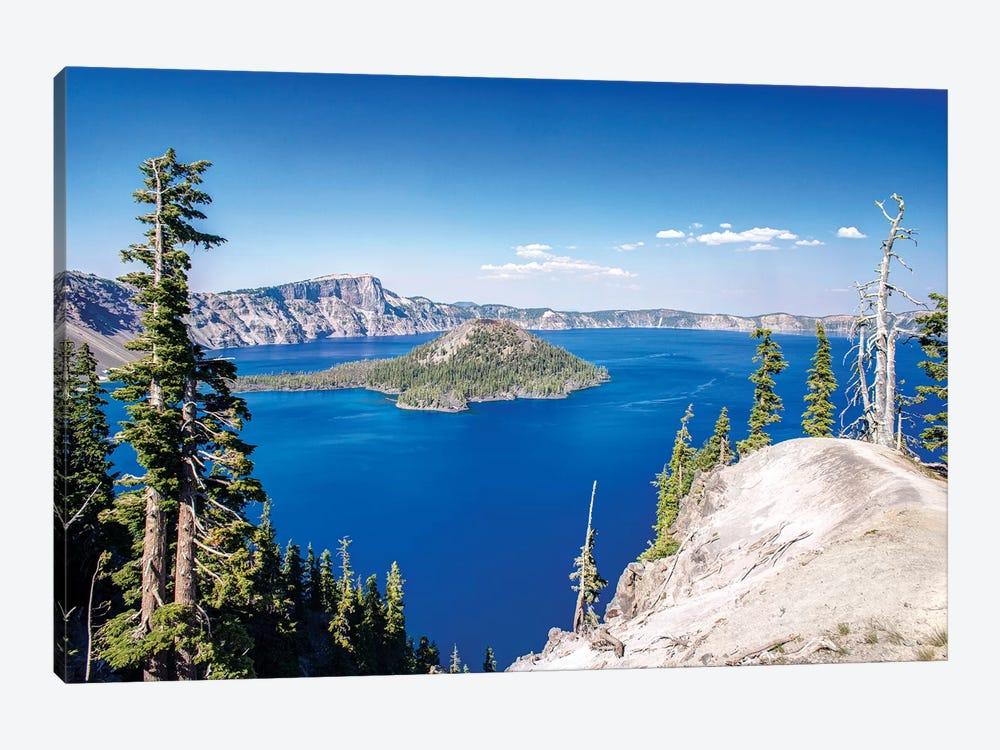 Wizard Island, Mount Mazama And Crater Lake, Crater Lake National Park, Klamath County, Oregon, USA by Rob Tilley 1-piece Canvas Art Print