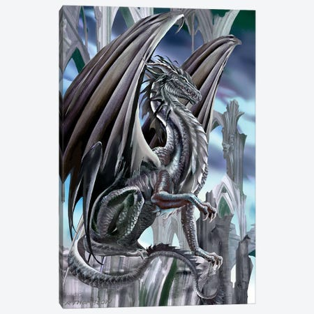 The Black King Canvas Print #RTP124} by Ruth Thompson Canvas Artwork