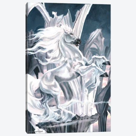 The White Knight Canvas Print #RTP135} by Ruth Thompson Canvas Art Print