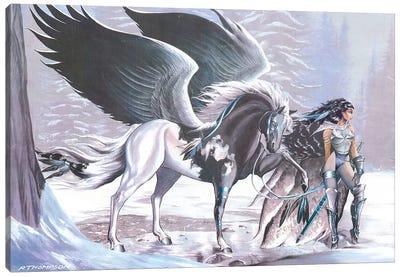 A Winter Eden Canvas Art Print