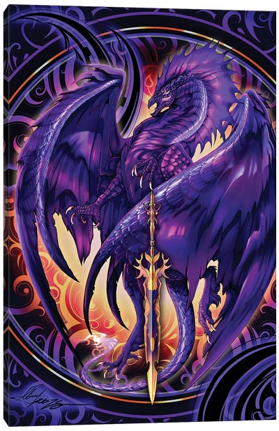 Dragonblade Netherblade Canvas Art Print
