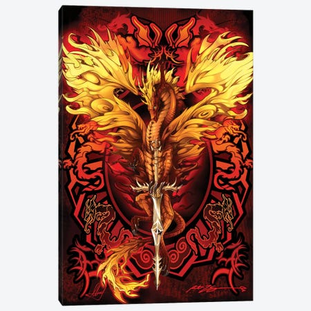 Dragonsword Flameblade Canvas Print #RTP166} by Ruth Thompson Canvas Wall Art