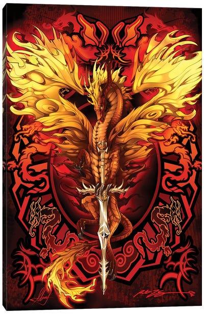 Dragonsword Flameblade Canvas Art Print