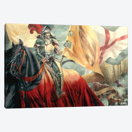Lancelot Canvas Print #RTP174} by Ruth Thompson Art Print