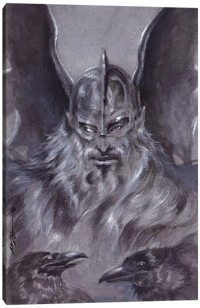 Odin Canvas Art Print