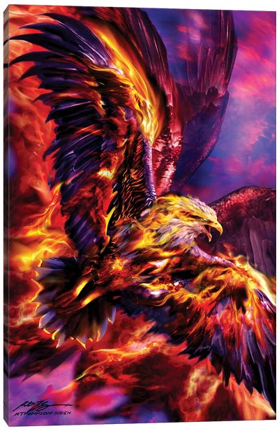 Phoenix Rising Canvas Art Print