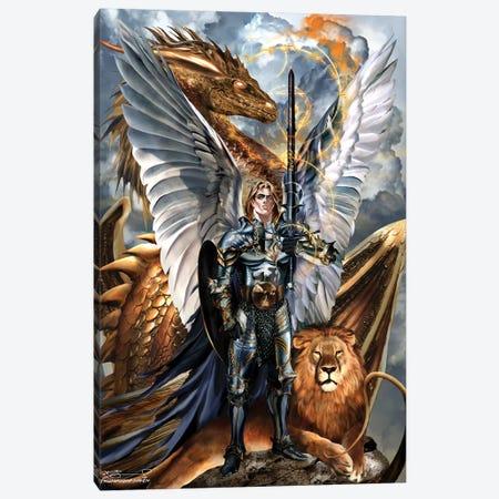 St. Michael The Archangel Canvas Print #RTP182} by Ruth Thompson Canvas Art Print