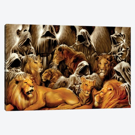 The Lion's Den Canvas Print #RTP185} by Ruth Thompson Canvas Artwork