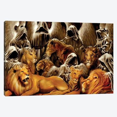 The Lion's Den Canvas Print #RTP185} by Ruth Thompson Canvas Artwork