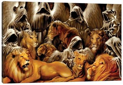 The Lion's Den Canvas Art Print
