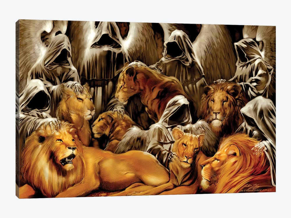 The Lion's Den by Ruth Thompson 1-piece Art Print