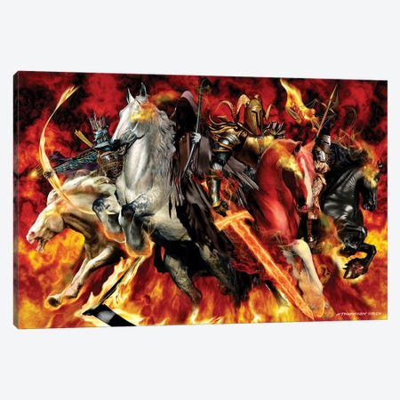 4 Horseman 3-Piece Canvas #RTP2} by Ruth Thompson Canvas Artwork