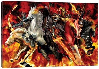 4 Horseman Canvas Art Print