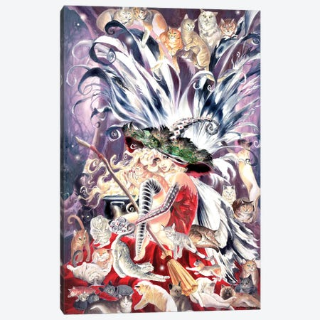 Faerie Witch Of Cats Canvas Print #RTP40} by Ruth Thompson Canvas Print