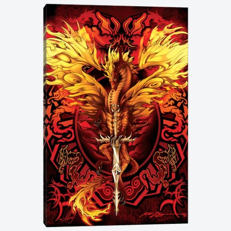 Flameblade Canvas Print #RTP44} by Ruth Thompson Canvas Artwork