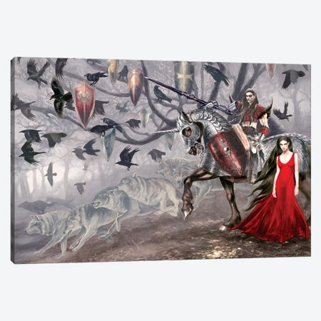 Le Morte D'Arthur Canvas Print #RTP63} by Ruth Thompson Canvas Art Print