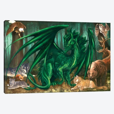 Lord Of The Forest Canvas Print #RTP66} by Ruth Thompson Canvas Art