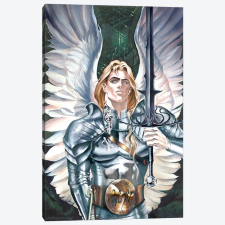 Michael - The Lord Of Hosts Canvas Print #RTP72} by Ruth Thompson Canvas Artwork