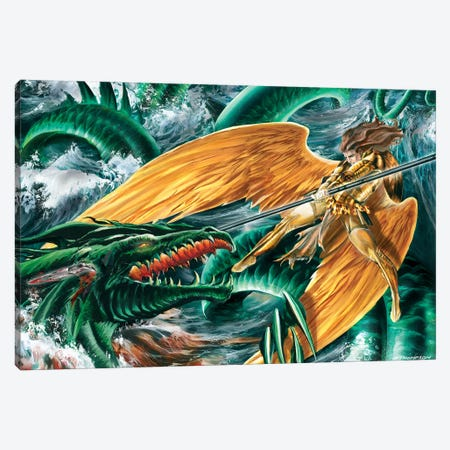 Raphael Vs Leviathan Canvas Print #RTP94} by Ruth Thompson Art Print