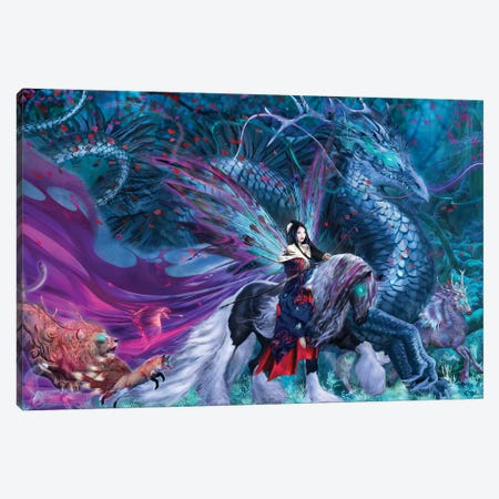 Ride Of The Yokai Canvas Print #RTP97} by Ruth Thompson Canvas Art Print