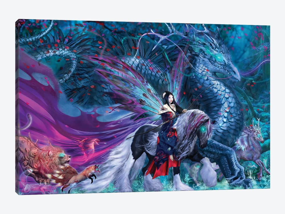 Ride Of The Yokai by Ruth Thompson 1-piece Canvas Wall Art