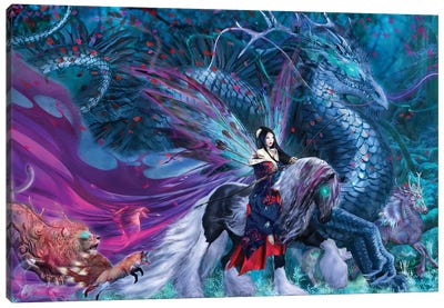 Ride Of The Yokai Canvas Art Print