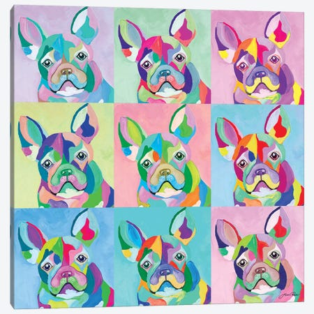 Pup Art Canvas Print #RTR12} by Gina Ritter Canvas Artwork