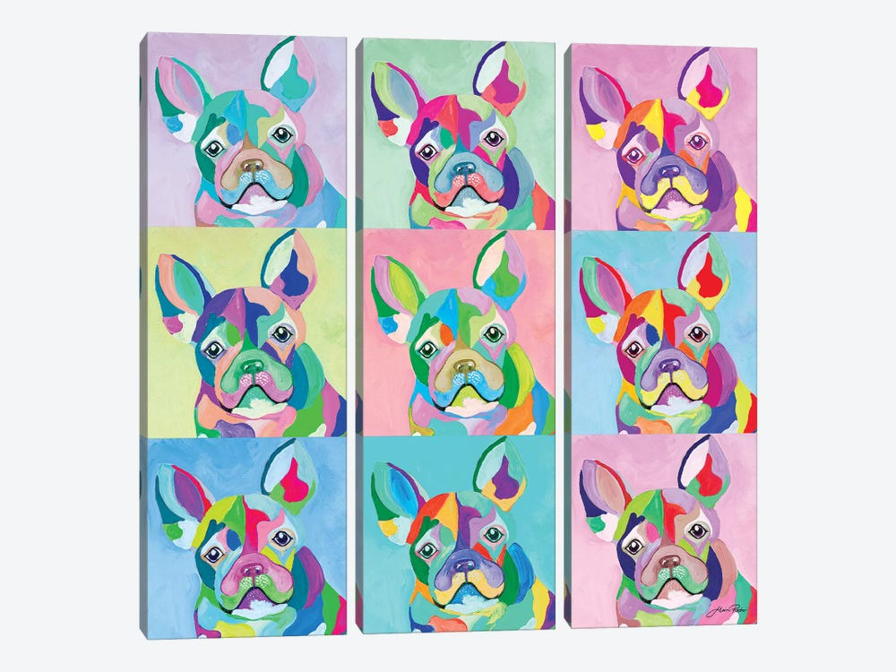 Pup Art by Gina Ritter 3-piece Canvas Artwork