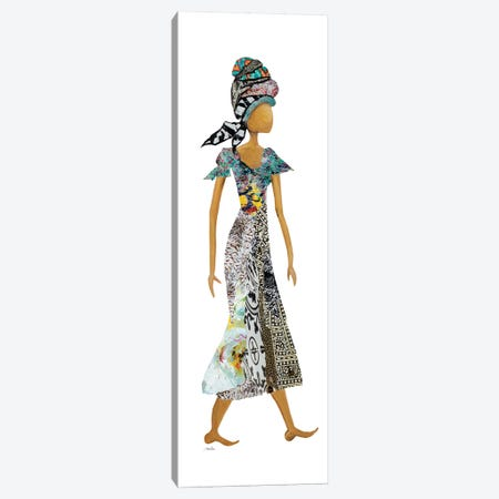 Xhose Headwrap Woman Canvas Print #RTR13} by Gina Ritter Canvas Art