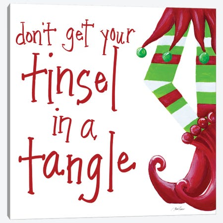 Don't Get Your Tinsel in a Tangle Canvas Print #RTR18} by Gina Ritter Canvas Artwork