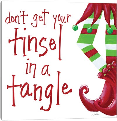 Don't Get Your Tinsel in a Tangle Canvas Art Print
