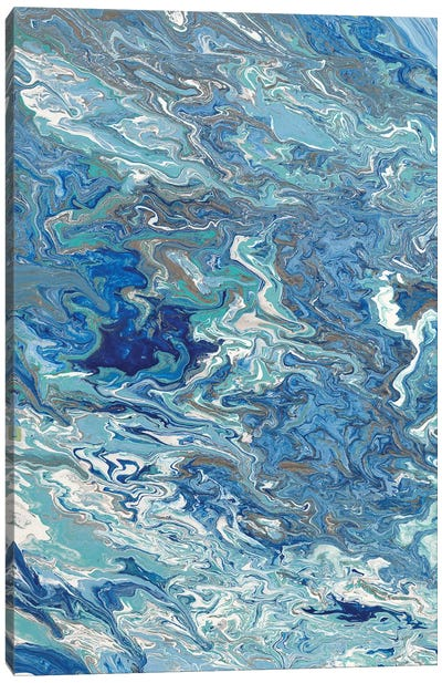 Marbleized Beach View I Canvas Art Print
