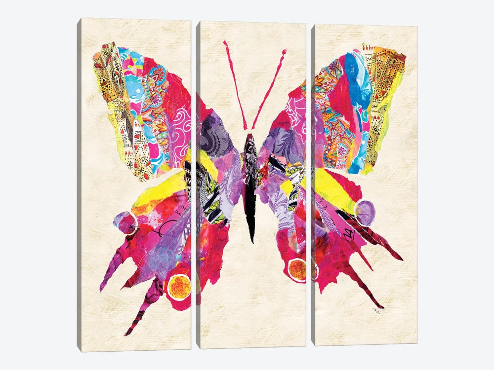 Brilliant Butterfly II by Gina Ritter 3-piece Canvas Art Print