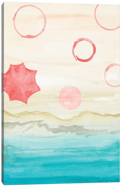 Watercolor Beach Stains I Canvas Art Print