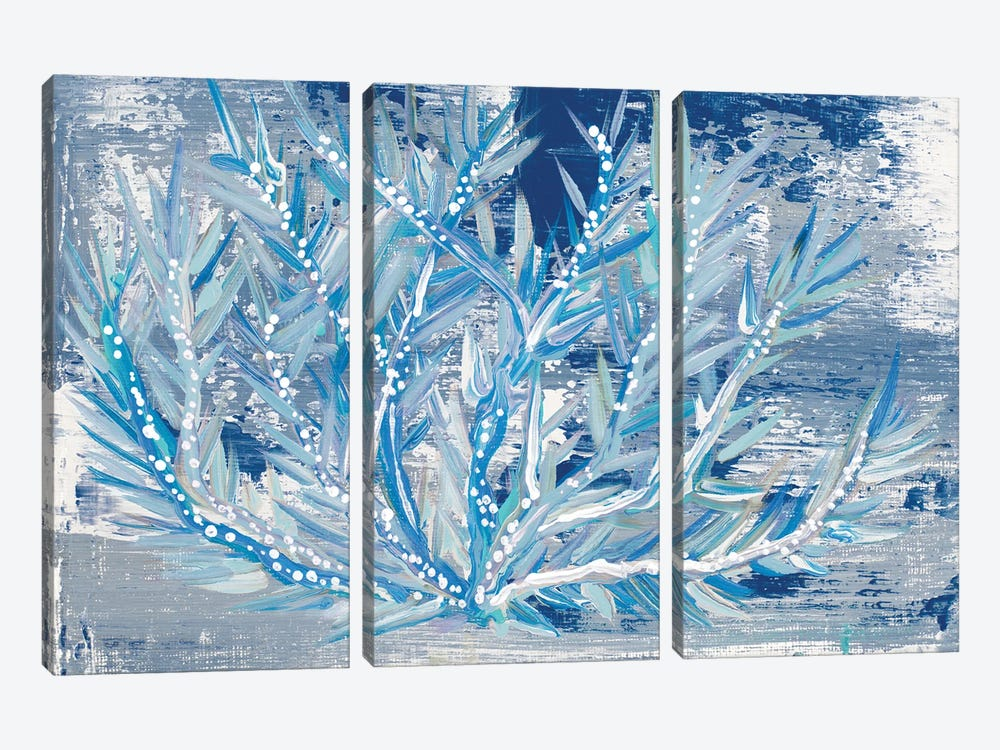 Azul Dotted Coral Horizontal by Gina Ritter 3-piece Canvas Art Print