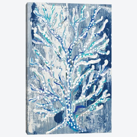 Azul Dotted Coral Vertical Canvas Print #RTR36} by Gina Ritter Art Print