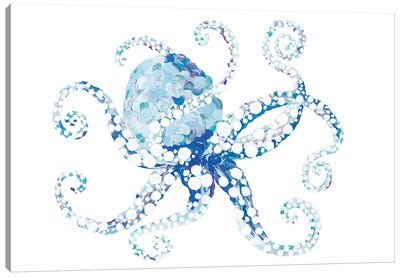 Azul Dotted Octopus I Canvas Art Print