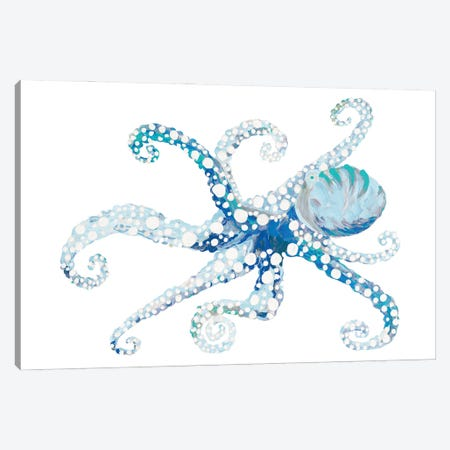 Azul Dotted Octopus II Canvas Print #RTR38} by Gina Ritter Canvas Wall Art