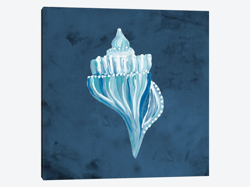 Azul Dotted Seashell on Navy I by Gina Ritter 1-piece Art Print