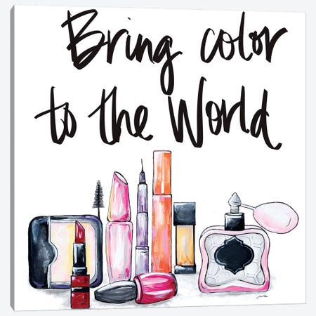 Bring Color to the World Canvas Print #RTR3} by Gina Ritter Canvas Artwork