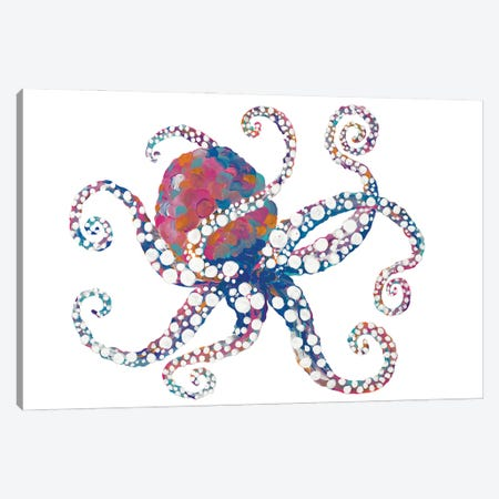 Dotted Octopus I Canvas Print #RTR41} by Gina Ritter Art Print