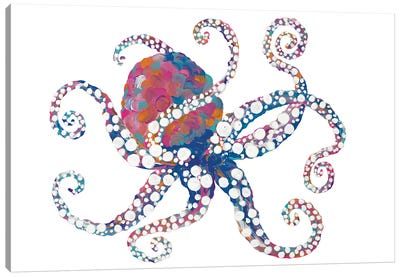 Dotted Octopus I Canvas Art Print
