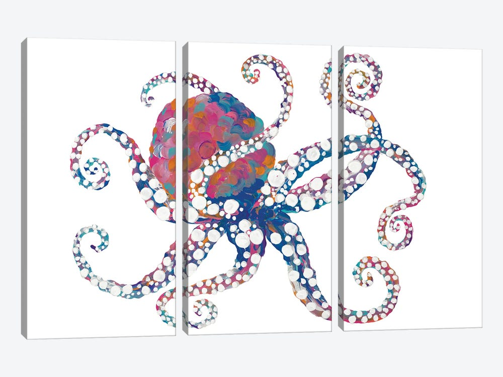 Dotted Octopus I by Gina Ritter 3-piece Canvas Art