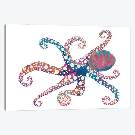 Dotted Octopus II Canvas Print #RTR42} by Gina Ritter Canvas Art Print